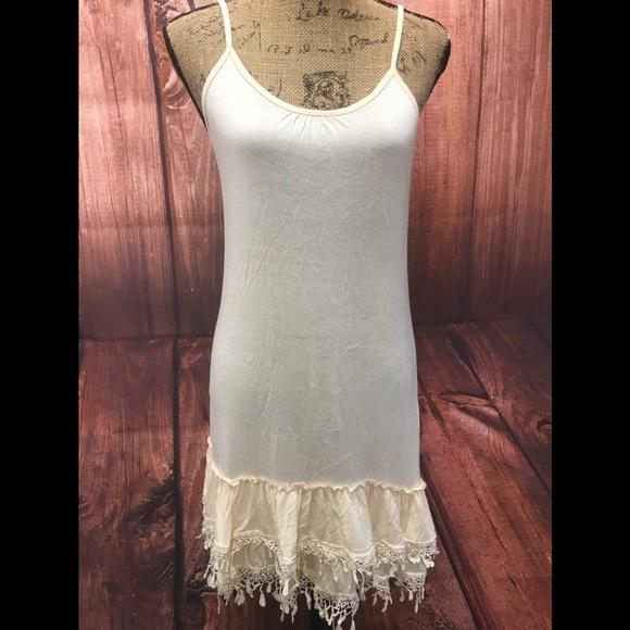 c657eb2a69677 lady noiz Dresses | Sz Xl Slip Dress Extender Cream | Poshmark
